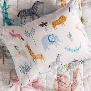 NWOT Paper & Cloth Safari Toddler Pillow Sham